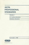 AICPA Professional Standards: U.S. Auditing Standards as of June 1, 1996
