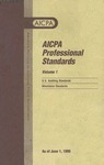AICPA Professional Standards: U.S. Auditing Standards as of June 1, 1999
