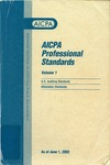 AICPA Professional Standards: U.S. Auditing Standards as of June 1, 2002