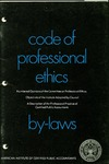 Code of professional ethics as amended March 4, 1965 [1967];  By-laws as amended March 20, 1967 [1967];  Numbered opinions of the Committee on Professional Ethics [1967];  Objectives of the Institute adopted by Council [1967];  Description of the Professional Practice of Certified Public Accountants [1967]