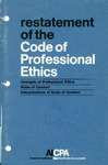 Restatement of the code of professional conduct;Concepts of professional ethics [1972];Rules of conduct [1972];Interpretations of rules of conduct [1972]