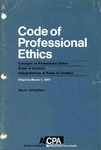 Code of professional ethics, Effective March 1, 1973;  March 1975 edition;  Concepts of professional ethics [1975];  Rules of conduct [1975];  Interpretations of rules of conduct [1975]