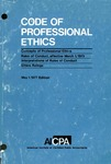Code of professional ethics, May 1, 1977 edition;Concepts of professional ethics [1977];Rules of conduct, effective March 1, 1973 [1977];Interpretations of rules of conduct [1977];Ethics rulings [1977]