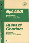 Bylaws and implementing resolutions of Council as amended May 10, 1983;  Rules of conduct of the code of professional ethics as amended January 6, 1983