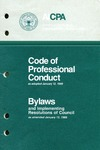 Code of professional conduct as adopted January 12, 1988;Bylaws and implementing resolutions of Council as amended January 12, 1988