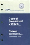 Code of professional conduct as amended January 14, 1992;  Bylaws and implementing resolutions of Council as amended January 14, 1992