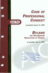 Code of professional conduct as amended January 14, 1992 [1996];  Bylaws and implementing resolutions of Council as amended June 17, 1996
