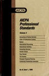 AICPA Professional Standards: Statement on standards for consulting services as of June 1, 1999
