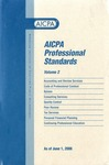AICPA Professional Standards: Statement on standards for consulting services as of June 1, 2006