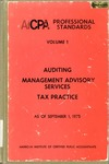 AICPA Professional Standards: Statements of management advisory services as of September 1, 1975