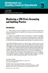 Monitoring a CPA firm's accounting and auditing practice;  Statement on quality control standards 3