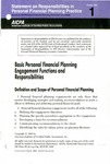 Basic personal financial planning engagement functions and responsibilities