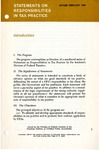 Statements on responsibilities in tax practice. Revised February 1969