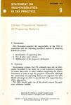 Certain procedural aspects of preparing returns