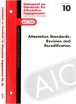 Attestation standards : revision and recodification; Statement on standards for attestation engagements 10