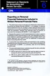 Reporting on personal financial statements included in written personal financial plans