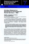 Omnibus statement on standards for accounting and review services, 1992