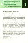Definitions and standards for MAS practice