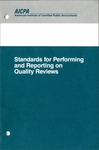 Standards for performing and reporting on quality reviews