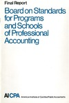 Board on Standards for Programs and Schools of Professional Accounting: final report