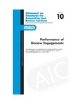 Performance of review engagements : (amends Statement on standards for accounting and review services, no. 1, Compilation and review of financial statements, AICPA, professional standards, vol. 2, AR sec. 100); Statement on standards for accounting and review services 10; Statement on standards for accounting and review services 10 by American Institute of Certified Public Accountants. Accounting and Review Services Committee