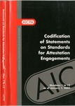 Codification of Statements on standards for attestation engagements as of January 1, 2004, numbers 1 to 12