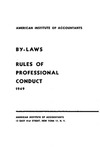 By-laws, rules of professional conduct, 1949 (as revised December 4, 1948