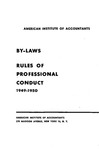 By-laws, rules of professional conduct, 1949-1950
