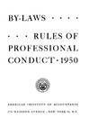 By-laws, rules of professional conduct, 1950 (as amended December 4, 1948