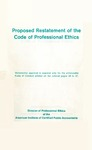 Proposed Restatement of the Code of Professional Ethics