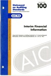 Interim financial information by American Institute of Certified Public Accountants. Auditing Standards Executive Committee