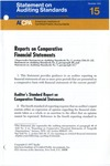 Reports on comparative financial statements; Statement on auditing standards, 015