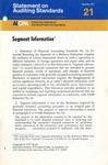 Segment information; Statement on auditing standards, 088