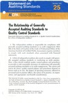 Relationship of generally accepted auditing standards to quality control standards; Statement on auditing standards, 025
