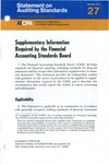Supplementary information required by the Financial Accounting Standards Board