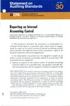 Reporting on internal accounting control; Statement on auditing standards, 030