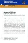Adequacy of disclosure in financial statements; Statement on auditing standards, 032