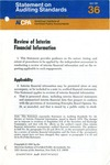 Review of interim financial information; Statement on auditing standards, 036