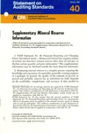 Supplementary mineral reserve information