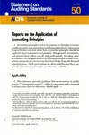 Reports on the application of accounting principles