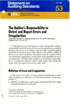 Auditor's responsibility to detect and report errors and irregularities