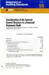 Consideration of the internal control structure in a financial statement audit by American Institute of Certified Public Accountants. Auditing Standards Board