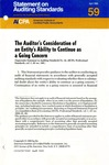 Auditor's consideration of an entity's ability to continue as a going concern by American Institute of Certified Public Accountants. Auditing Standards Board