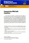 Communication with audit committees by American Institute of Certified Public Accountants. Auditing Standards Board