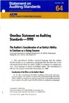 Omnibus statement on auditing standards--1990 by American Institute of Certified Public Accountants. Auditing Standards Board