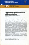 Communications between predecessor and successor auditors