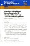 Amendments to statement on auditing standards no. 72, letters for underwriters and certain other requesting parties