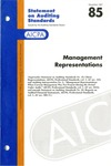 Management representations; Statement on auditing standards, 085