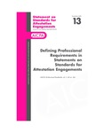 Defining professional requirements in statements on standards for attestation engagements; Statement on standards for attestation engagements 13