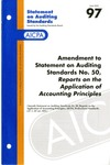 Amendment to statement on auditing standards no. 50, reports on the application of accounting principles by American Institute of Certified Public Accountants. Auditing Standards Executive Committee